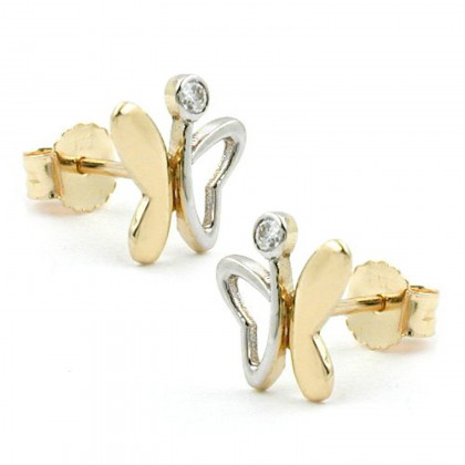 Stecker, Schmetterling, 9Kt GOLD